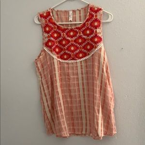 Super cute embroidered top
